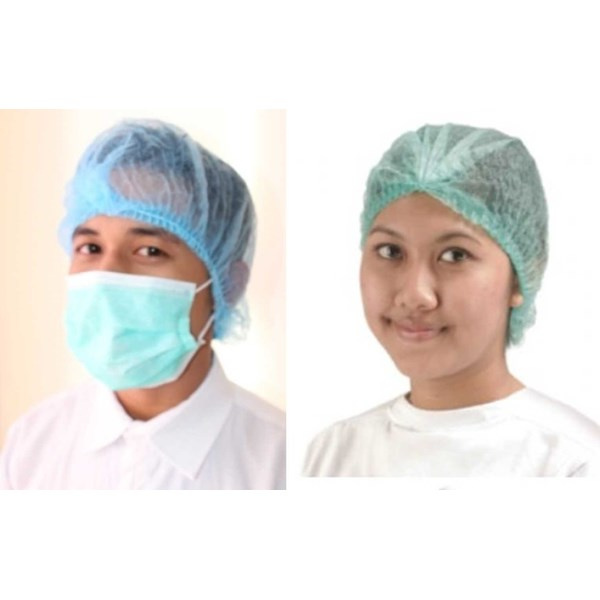 mob cap, hairnet, nurse cap, topi pabrik non woven disposible-3