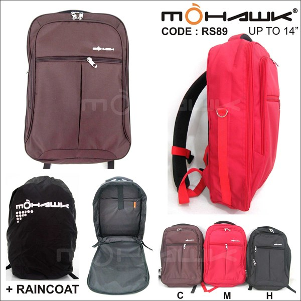 tas punggung/ransel/backpack laptop notebook netbook - mohawk rs89-1