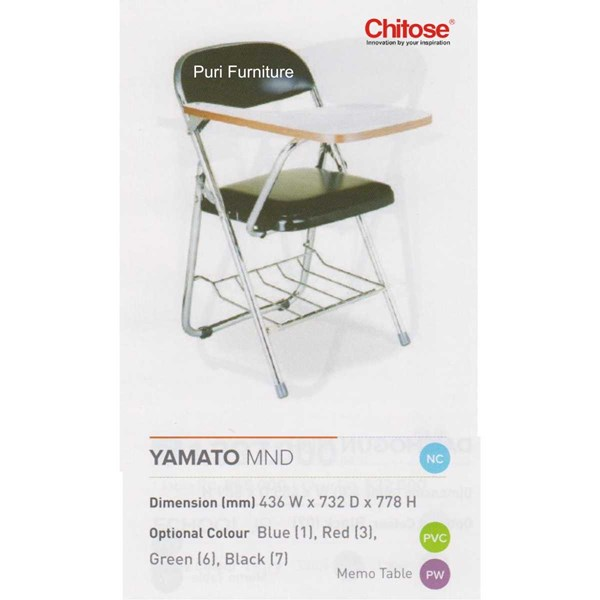 chitose folding chair & memo