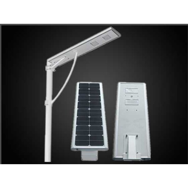 jual pju tenaga surya 50w all in one - lampu jalan lithium battray