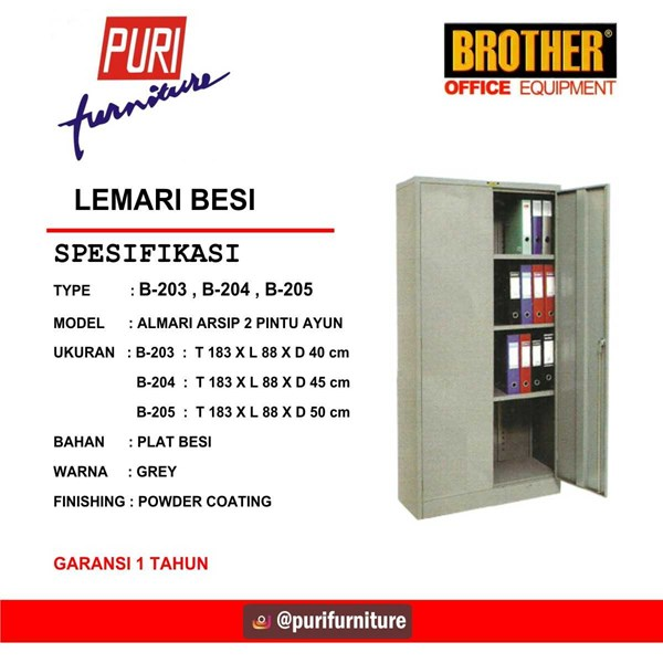 locker besi brother b-203, b-204, b-205