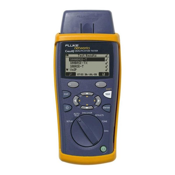 jual fluke cableiq tester network cabling speed (10/100/1000/voip).-1