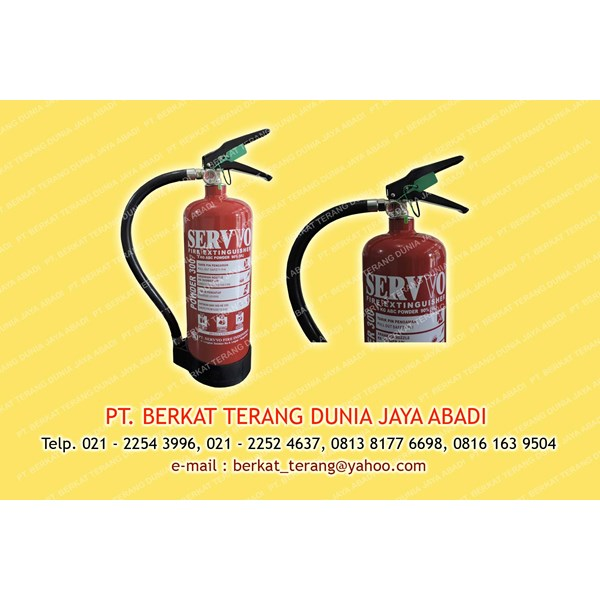 fire extinguisher abc dry powder kap. 3 kg merk servvo
