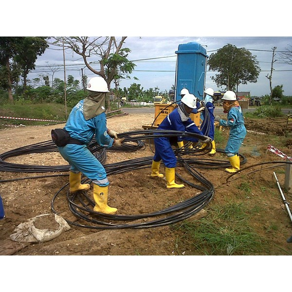 fiber optic construction kontraktor indonesia