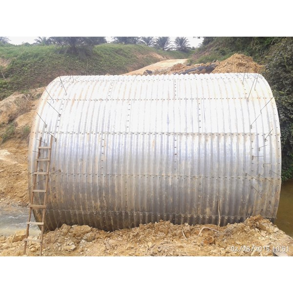 corrugated steel pipe armco type multi plate pipe arches-6