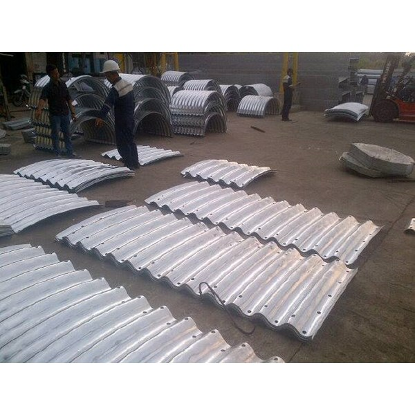 corrugated steel pipe armco type multi plate pipe arches-2