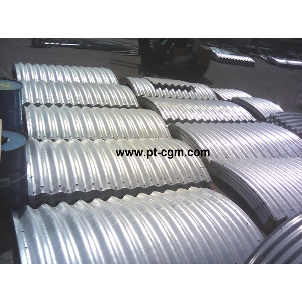 corrugated steel pipe armco type multi plate pipe arches-7