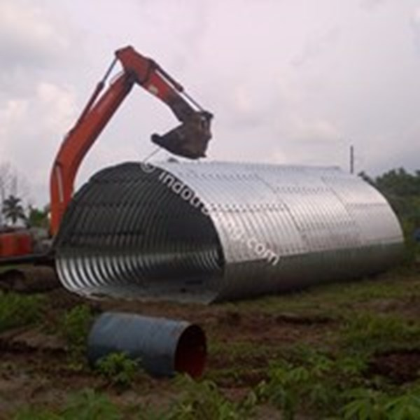 corrugated steel pipe armco type multi plate pipe arches-4