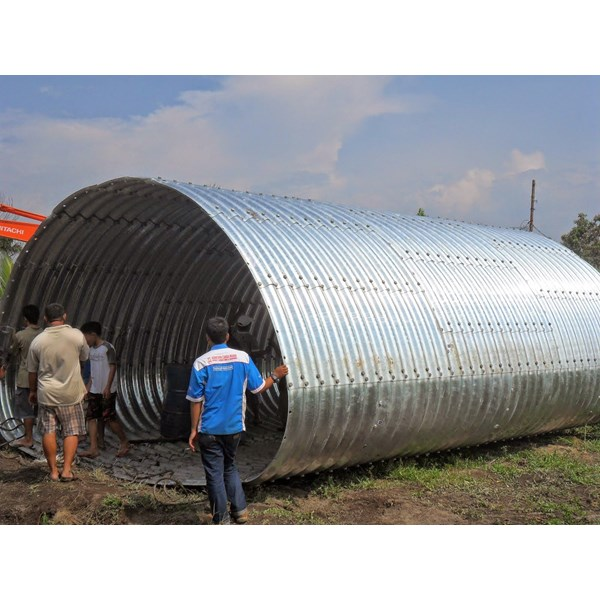 corrugated steel pipe armco type multi plate pipe arches-3