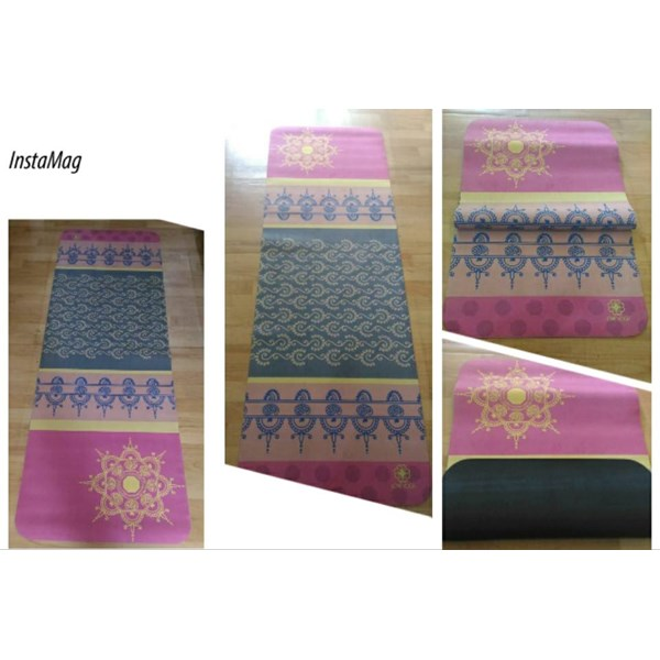 jual matras love yoga motif / unique yoga shop bali
