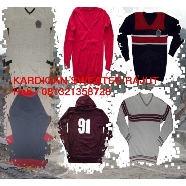 sweater kardigan rajut