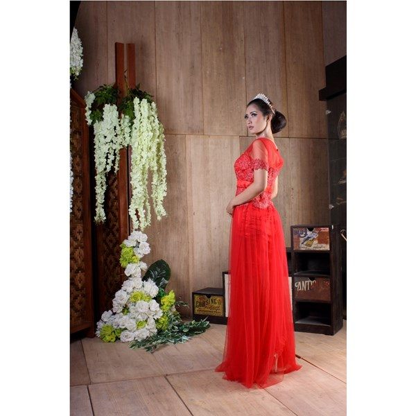 longdress pesta brokat revalina m