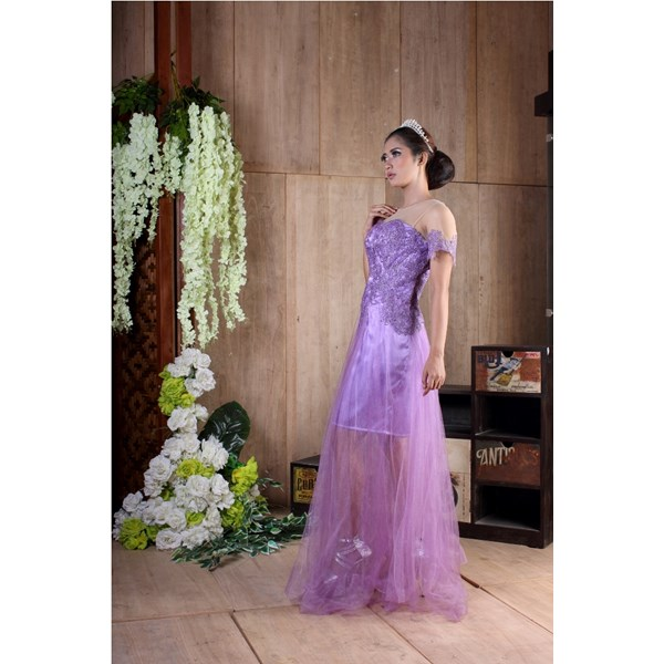 longdress pesta brokat marinka m