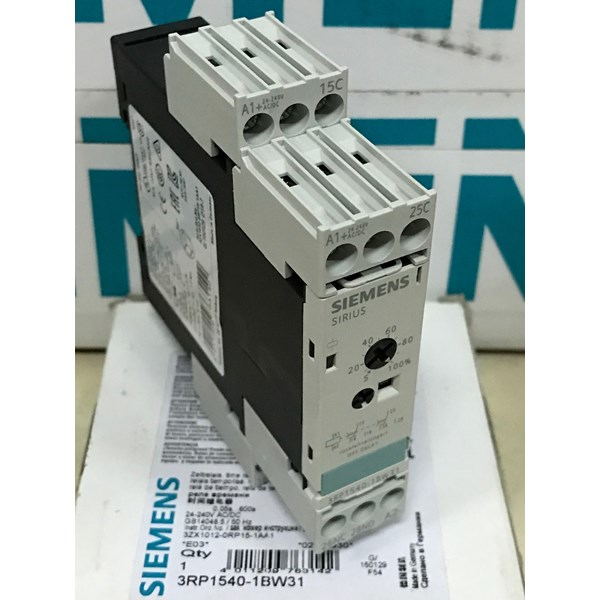 siemens 3rp1540-1bw31 off delay single timer relay