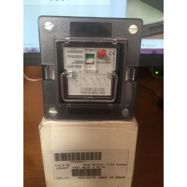 siemens 7pa2331-1 lockout fast relay 4nc/no-2
