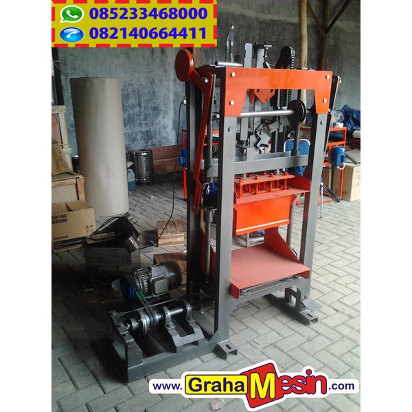 mesin press paving dan cetak batako manual