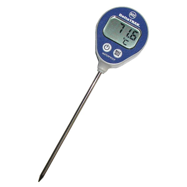 waterproof lollipop min/max thermometer, model 11050 deltatrak usa