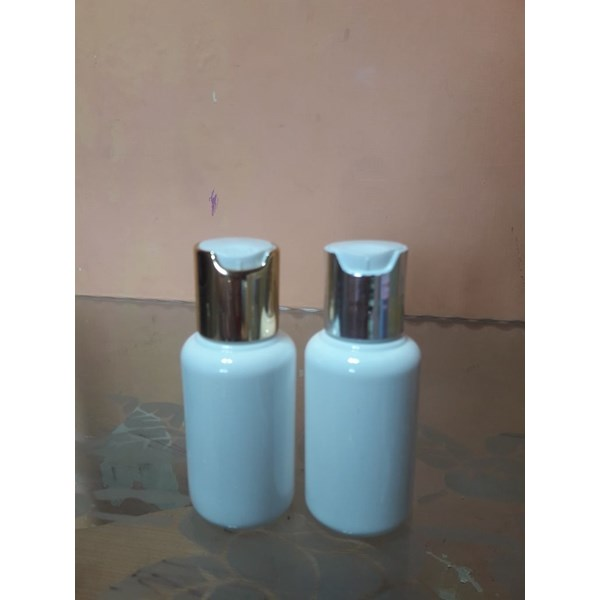 botol 60ml press on gold/silver