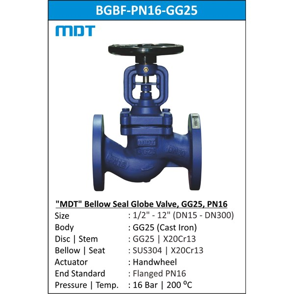 mdt | bgbf-pn16-gg25 | bellows seal globe valve, gg25, pn16-1