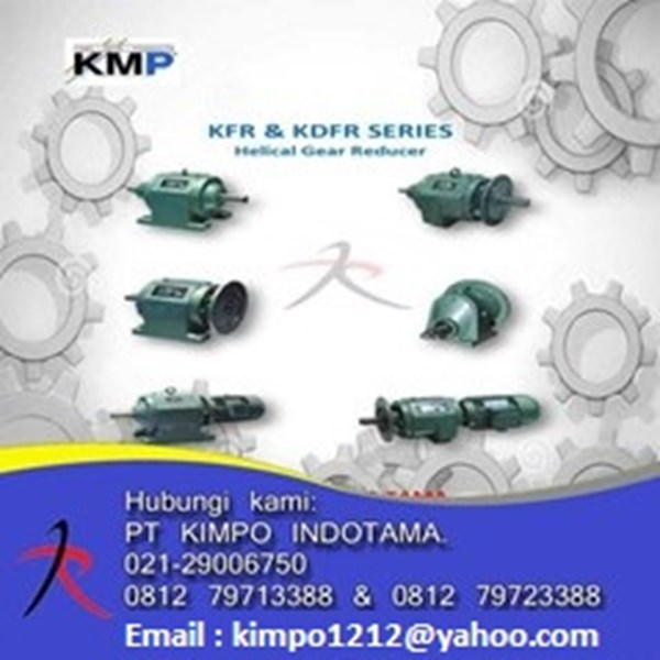 jual helical gear reducer kmp