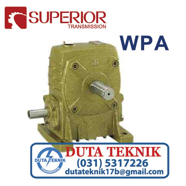 wp series worm gearbox wpa