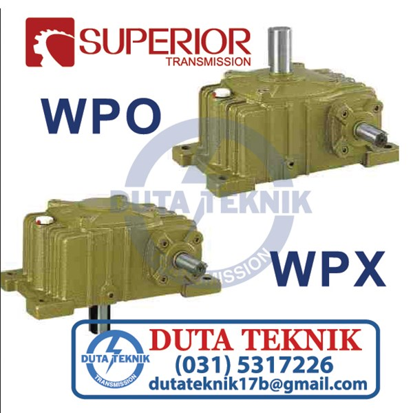 wp series worm gearbox wpo & wpx