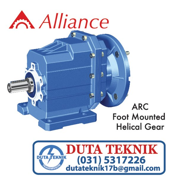 alliance helical gear (foot mounted) arc/trc