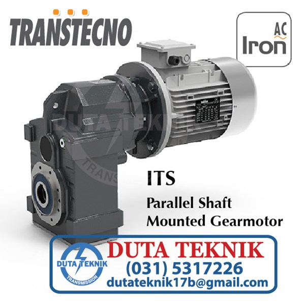 transtechno parallel shaft mounted gearmotor its