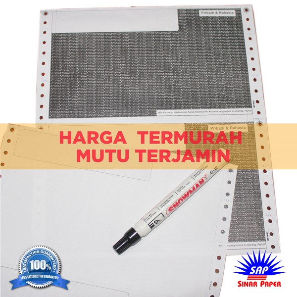 kertas slip gaji carbonize / pay slip / model pendek-2