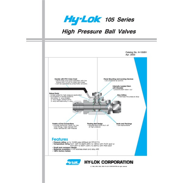 hy lok 105 series hp ball valves-1