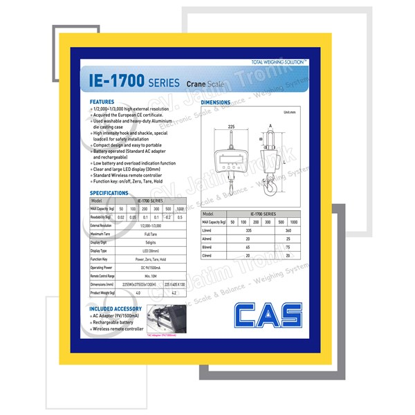crane scale cas ie-1700-2