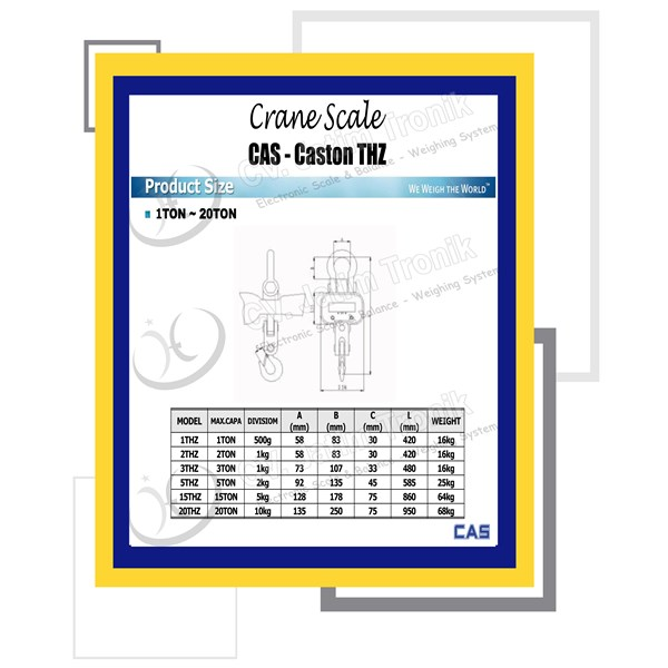 crane scale cas caston thz