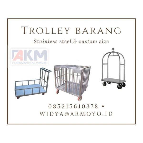 trolley barang stainless steel