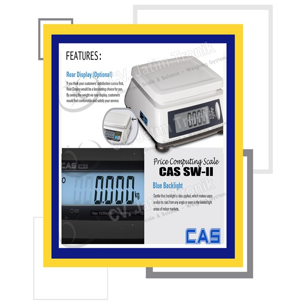 price computing scale cas sw ii-4