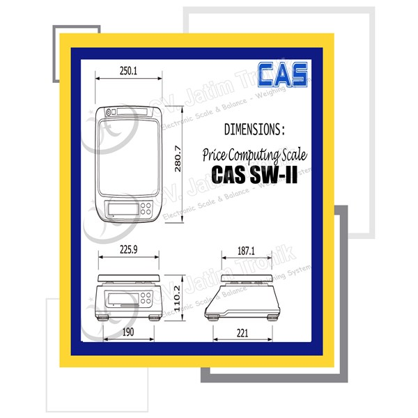 price computing scale cas sw ii-1