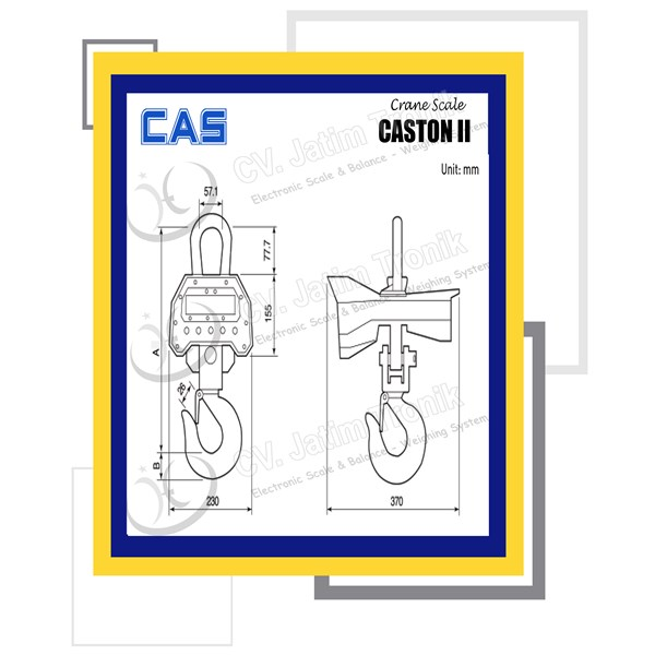 crane scale cas caston ii