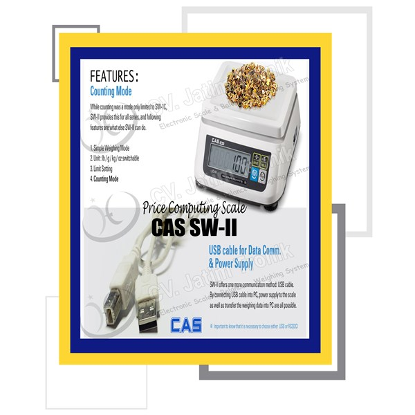 price computing scale cas sw ii-5