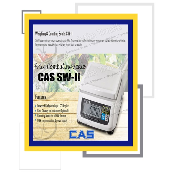 price computing scale cas sw ii-2