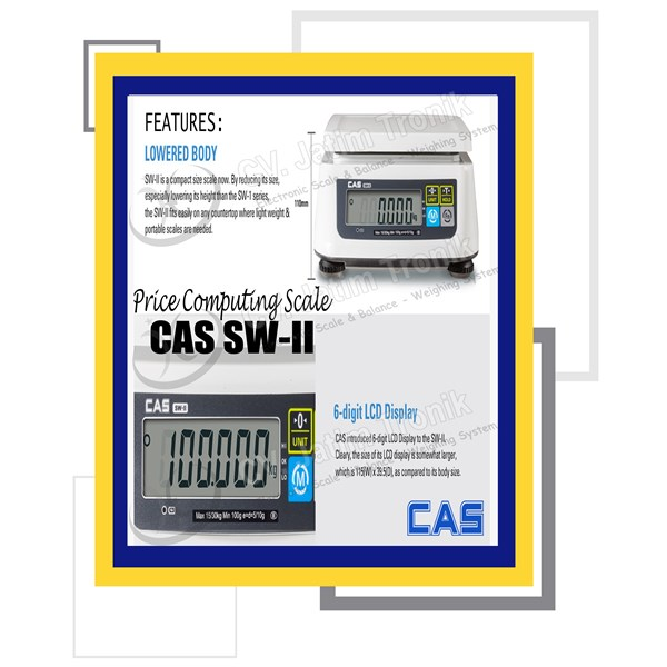 price computing scale cas sw ii-3