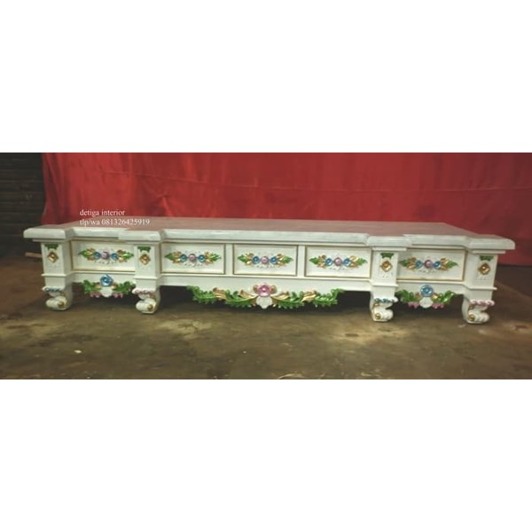 jual tv cabinet top marble-2