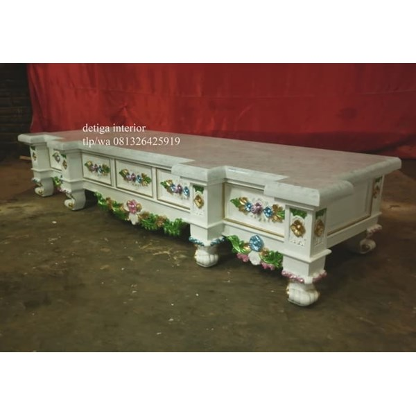 jual tv cabinet top marble