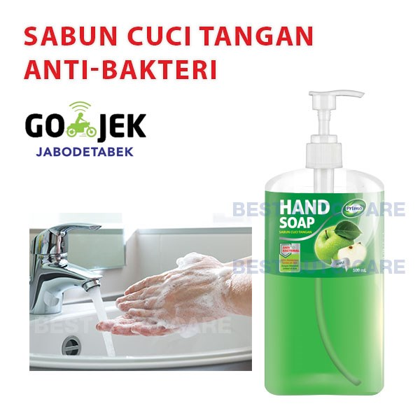 primo hand soap wash sabun cuci tangan anti bakteri - 500 ml