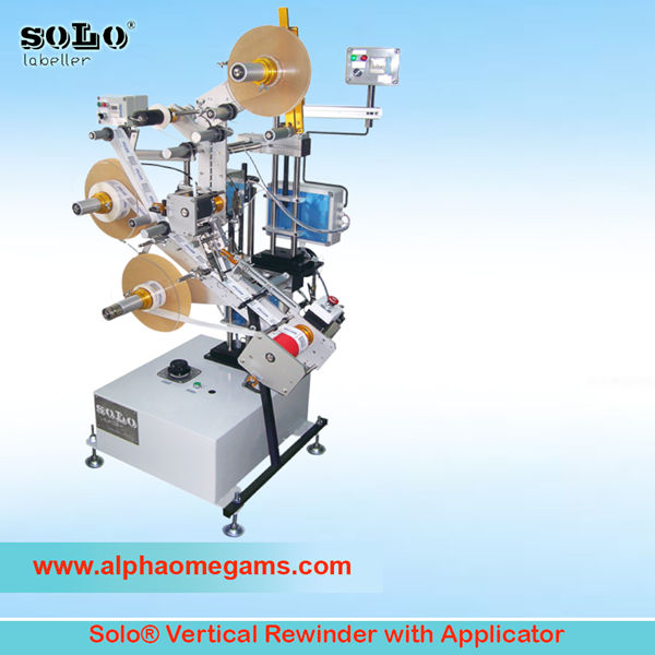solo vertical rewinder with applicator