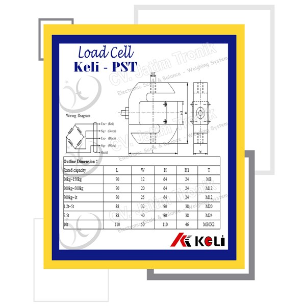 load cell type s keli pst