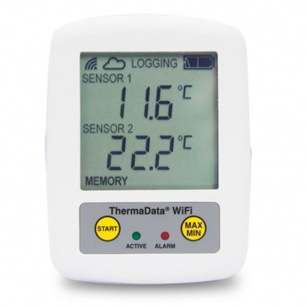 wifi logger thermadata 2 channel
