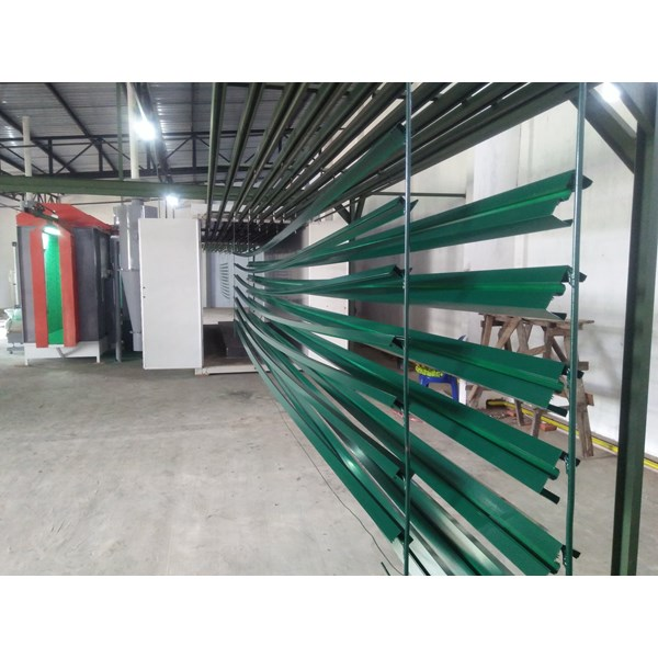 oven powder coating & line painting system-1
