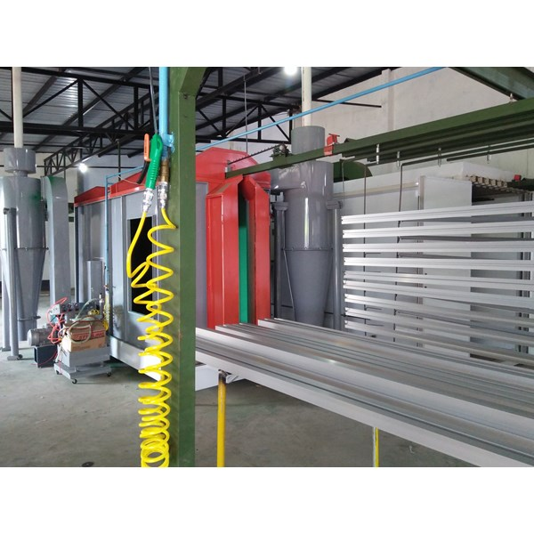 oven powder coating & line painting system-2