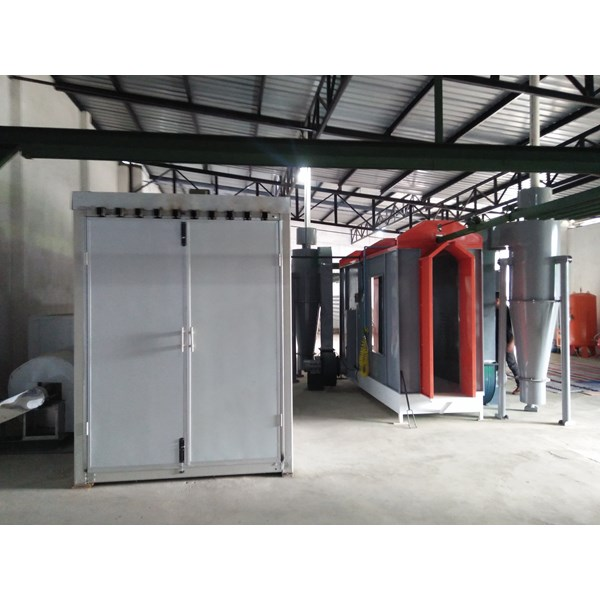oven powder coating & line painting system