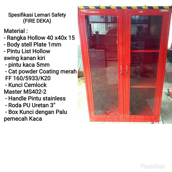 lemari safety fire deka