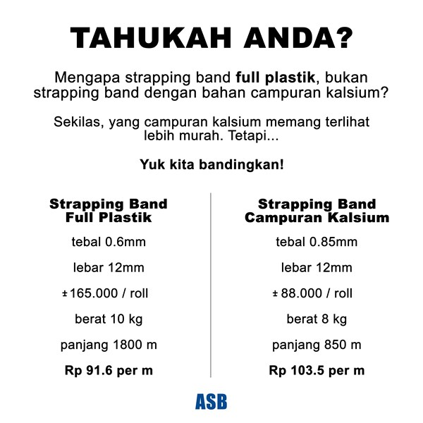 pp strapping band full plastik